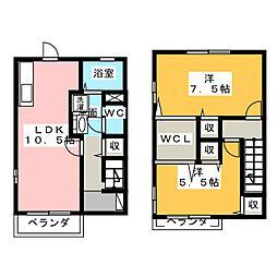 [テラスハウス] 静岡県浜松市中区佐藤3丁目 の賃貸【/】の間取り