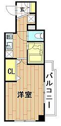 神奈川県川崎市中原区木月2丁目の賃貸マンションの間取り