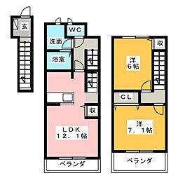 エスポワール・エル[2階]の間取り