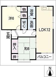 フローレンス B棟[1階]の間取り