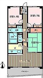 モンテローザ緑ヶ丘[   3階号室]の間取り