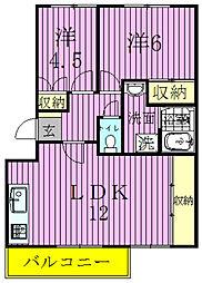 スリーアイズマンション[301号室]の間取り