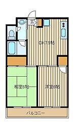 ジュン西東京市[4階]の間取り