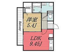 京成本線 京成成田駅 バス24分 根木名台下車 徒歩3分の賃貸アパート 3階1LDKの間取り