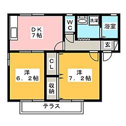 iホームTOWN 四番館[1階]の間取り