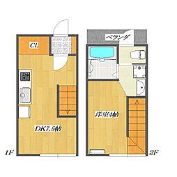Calico-House 2[217号室]の間取り