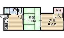 第二山甚マンション[2階]の間取り