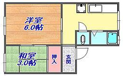 神田マンション[401号室]の間取り