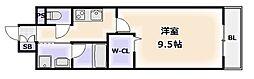大阪府大阪市浪速区敷津東3丁目の賃貸マンションの間取り