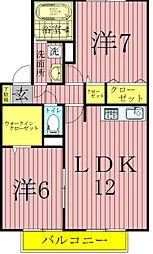 千葉県我孫子市柴崎台4丁目の賃貸アパートの間取り