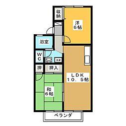 ニューセジュールアサノA[2階]の間取り