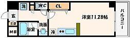 大阪府大阪市北区東天満2丁目の賃貸マンションの間取り