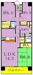 白井ロジュマン[4階]の間取り