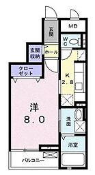 ユトリナ湘南A[3階]の間取り