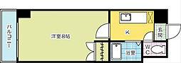 ロイヤルトム[7階]の間取り