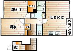 ポラリス上吉田[2階]の間取り