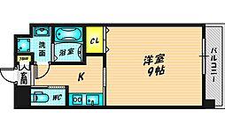 Forest Grace 高井田I 10階1Kの間取り