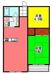 ふゆく寓[101号室]の間取り