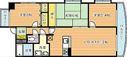 福岡県北九州市八幡西区長崎町の賃貸マンションの間取り