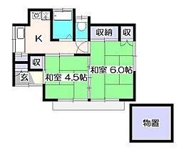 [一戸建] 東京都小平市鈴木町2丁目 の賃貸【/】の間取り