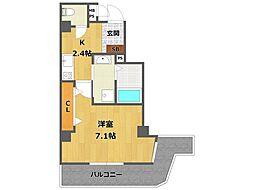 ONLYONE伊丹駅前 5階1Kの間取り