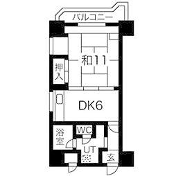 ドミ18ロイヤル[10階]の間取り