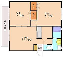 メゾン壱番館[2階]の間取り