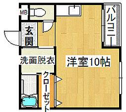 ワキタハイツ2号館[2階]の間取り