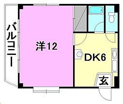 casukido[403 号室号室]の間取り