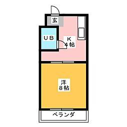 サンハイム21[4階]の間取り
