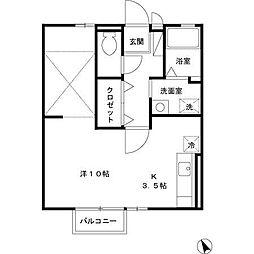 滋賀県大津市唐崎4の賃貸アパートの間取り