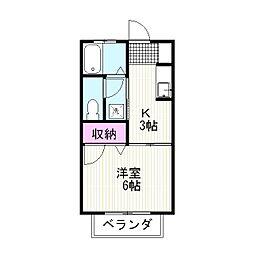 シャーメゾン平松[101号室]の間取り