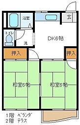 第2押田ハイツ 203[2階]の間取り