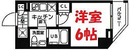 横浜市営地下鉄ブルーライン 吉野町駅 徒歩3分の賃貸マンション 5階1Kの間取り