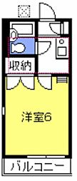 プチハウス武蔵野[203号室号室]の間取り