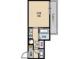 楠青山ビル別館[4階]の間取り