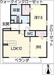 ロックナーヴェ[2階]の間取り