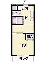 TOHNOマンション[2階]の間取り