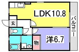 レトアK'sII[2階]の間取り