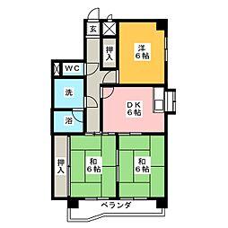 第三田中ビル[8階]の間取り