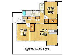 日野ハイツ[1階]の間取り