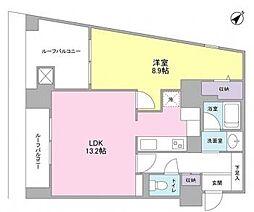 TKフラッツ渋谷[12階]の間取り