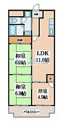 レジデンシア吉田[1階]の間取り
