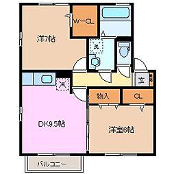 エムズハウス[2階]の間取り