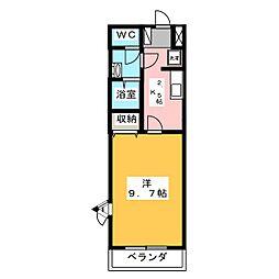 プロスパーク犬山[2階]の間取り