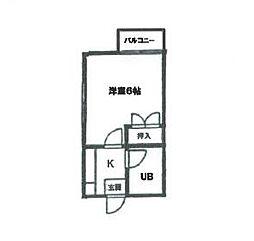 ハウスピアヤマモト[2階]の間取り