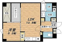 FLAT INN UESHIO 2階1LDKの間取り