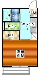 茨城県ひたちなか市松戸町2丁目の賃貸アパートの間取り