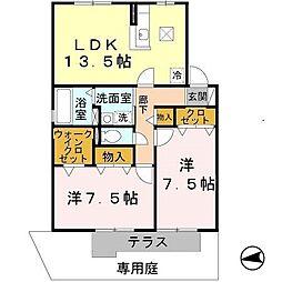 カトルセゾン(太平寺)[1階]の間取り