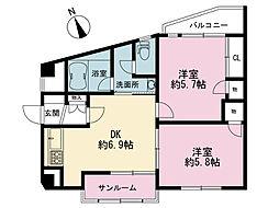 サンマティオ片倉[3階]の間取り